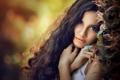 Картинка взгляд, волосы, портрет, боке