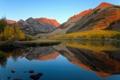 Картинка лес, осень, California, горы, озеро, North lake
