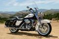 Картинка белый, небо, горы, мотоцикл, байк, bike, harley-davidson