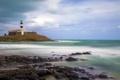 Картинка море, волны, пляж, камень, буря, Бразилия, Сальвадор