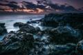 Картинка море, небо, камни, лёд