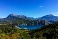 Картинка горы, река, ландшафт, Франция, Prunieres