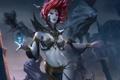 Картинка девушка, тьма, магия, арт, тени, Legend of the Cryptids