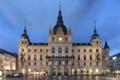 Картинка небо, здание, вечер, Город, площадь, Вена
