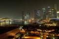Картинка дорога, огни, улица, вечер, сингапур