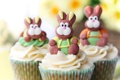 Картинка еда, кролики, сладости, крем, десерт, кексы, cupcakes