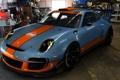 Картинка спорт, тюнинг, гараж, Porsche, GT3, Gulf