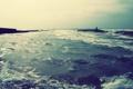 Картинка море, волны, берег, Природа, силуэты, прилив
