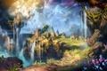 Картинка горы, остров, поселение, flying islands, лагерь