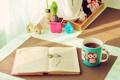 Картинка стол, настроение, Книга, кружка