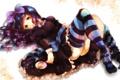 Картинка девушка, аниме, арт, конфета, чулко, anarchy stocking, panty and stocking with garterbelt