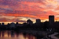 Картинка закат, набережная, Донецк, Кальмиуч