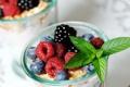Картинка ягоды, тарелка, малина, черника
