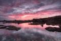 Картинка море, пляж, прозрачность, облака, закат, камни, вечер