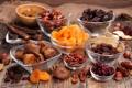 Картинка орехи, nuts, изюм, Peaches, курага, сухофрукты, Fruit