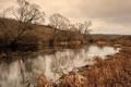 Картинка природа, пейзаж, река, осень, утро