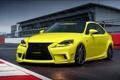 Картинка желтый, tuning, лексус, автообои, F Sport, Lexus IS 350