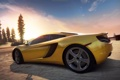 Картинка дорога, закат, суперкар, need for speed, hot pursuit, McLaren MP4-12C
