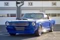 Картинка синий, Mustang, Ford, классика, передок