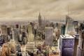 Картинка город, здания, Нью-Йорк, небоскребы, панорама, Манхэттен, New York