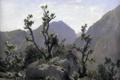 Картинка пейзаж, скалы, картина, Карлос де Хаэс, Горы Астурии
