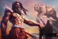 Картинка медведь, воин, топор, heroes of newerth, Wildsoul, Northman Werebear