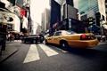 Картинка город, небоскребы, USA, америка, сша, New York City, taxi