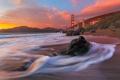 Картинка небо, залив, Сан-Франциско, мост Золотые Ворота