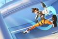 Картинка костюм, Tracer, девушка, Blizzard, прыжок, улыбка, Overwatch