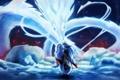 Картинка птицы, магия, дракон, аниме, арт, мех, парень