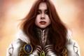 Картинка девушка, лицо, арт, доспех, Mochifin, Isabel, Heroes of Might & Magic 5