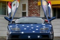 Картинка тюнинг, здание, вид спереди, диабло, дверцы, SVR, Lamborghini Diablo