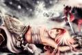 Картинка девушка, борьба, меч, воин, арт, girl, art