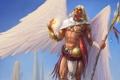 Картинка украшения, скалы, магия, крылья, ангел, перья, арт