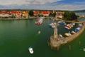 Картинка озеро, дома, лодки, Германия, Бавария, катера, набережная