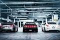 Картинка Nissan, 350z, трио, ниссан, rear, 370z, 300zx
