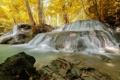 Картинка Huaymaekamin Водопад, лес, осень, деревья, природа