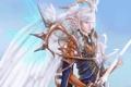 Картинка магия, крылья, меч, мужчина