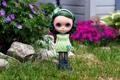 Картинка игрушка, кукла, сад, зелёные волосы
