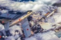 Картинка огонь, облака, MMO, WoWp, World of Warplanes, Persha Studia, авиа