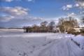 Картинка зима, дорога, дом