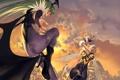 Картинка фентези, оса, крылья, летучая мышь, герои, перевоплощение