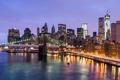 Картинка USA, Нью-Йорк, Ист-Ривер, East River, Манхэттен, свет, New York City