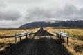 Картинка дорога, пейзаж, горы, мост, Iceland, Eyjafjardarsysla