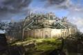 Картинка крепость, Guild Wars 2, город, рисунок