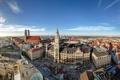 Картинка люди, дома, Германия, площадь, вид сверху, дворец, Munich