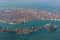 Картинка море, острова, дома, Италия, панорама, Венеция, каналы