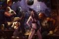 Картинка шар, смех, диско, бар, World of Warcraft, эльфийка, вечеринка