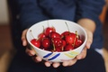 Картинка ягоды, тарелка, миска, много, черешня
