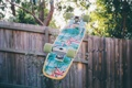 Картинка рисунок, забор, доска, скейтборд